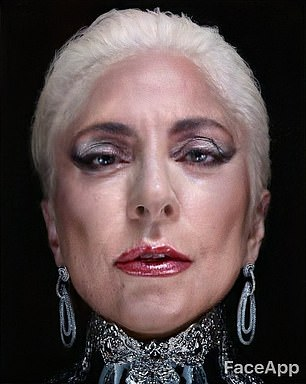 Poker face: One fan used the new art for Lady Gaga's makeup brand